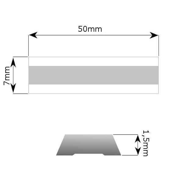 Maalikaapimen eli skraban varaterä 50mm (Bahco', Sandvik', Storch', Friess-Techno'(i)lle)